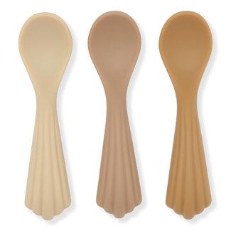 Konges Sløjd Konges Sløjd - 3 Pack Spoons Silicone, Shell
