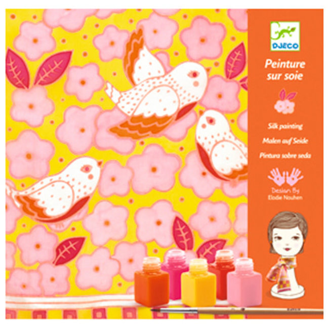 Djeco Djeco - Silk Painting, Sparrows