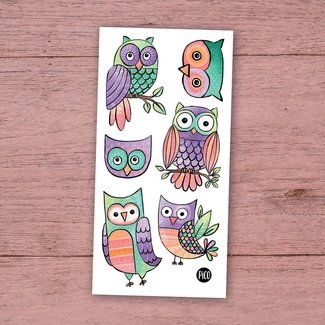 Pico Tatouages Temporaires Pico Tatoo - Temporary Tattoos, Nice Owls