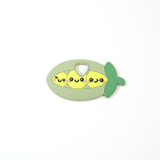 Bulle Bijouterie Bulle Bijouterie - Silicone Teether Toy, Sweet Peas