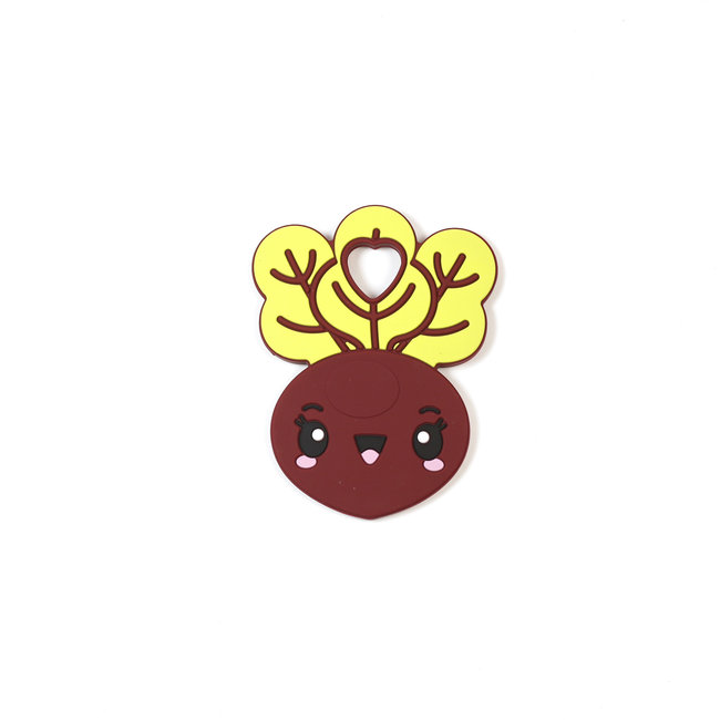Bulle Bijouterie Bulle Bijouterie - Silicone Teether Toy, Beet
