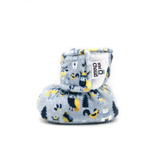 Bébé Ô chaud Bébé Ô Chaud - Velcro Slippers for Baby, Animals