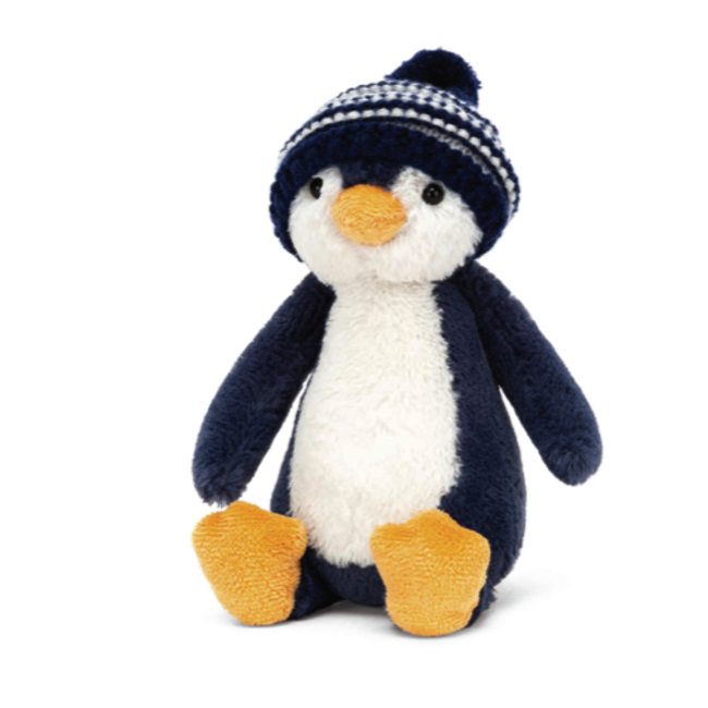 Jellycat Jellycat - Bashful Penguin Navy Bobble Hat 7''