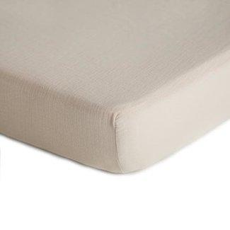 Mushie Mushie - Muslin Fitted Crib Sheet, Fog
