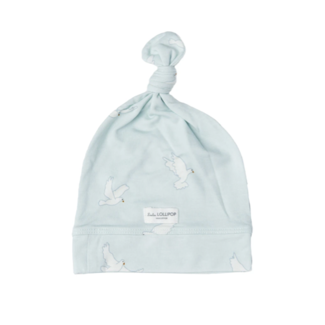Loulou Lollipop Loulou Lollipop - Top Knot Beanie, Peace Dove