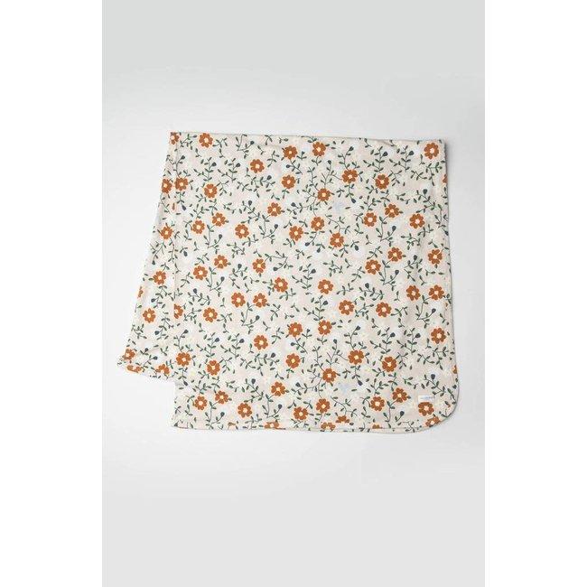 Loulou Lollipop Loulou Lollipop - Stretch Knit Blanket, Flower Vine