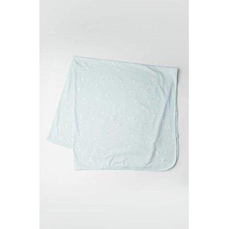 Loulou Lollipop Loulou Lollipop - Stretch Knit Blanket, Peace Dove