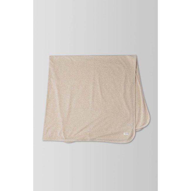 Loulou Lollipop Loulou Lollipop - Stretch Knit Blanket, Heather Oatmeal