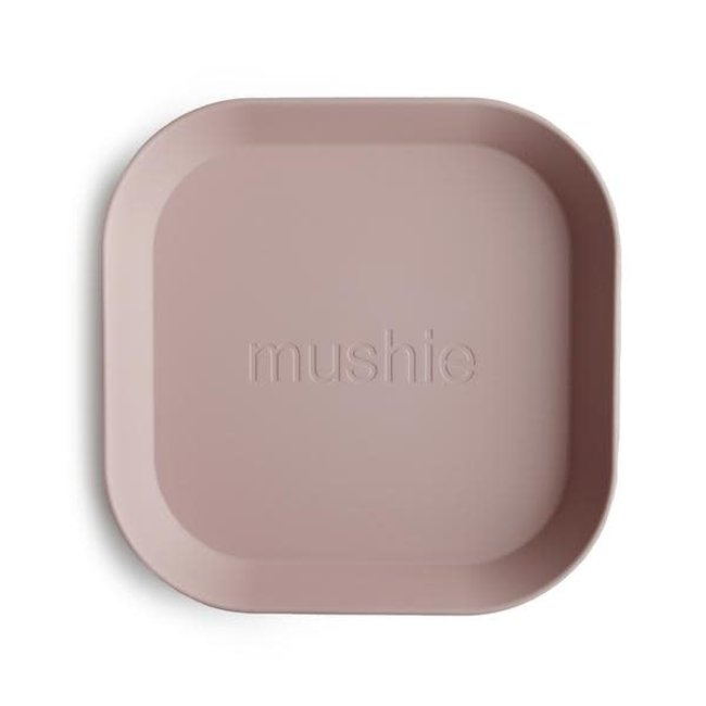 Mushie Mushie - Set of 2 Square Plates, Blush