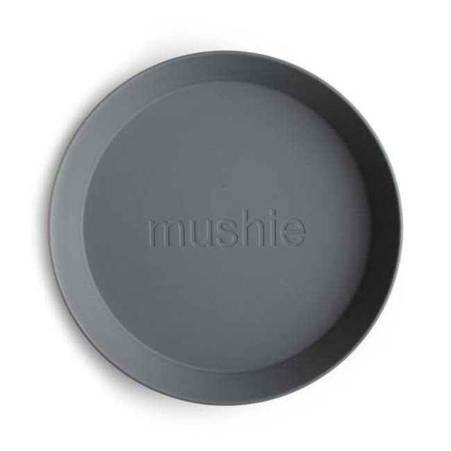 Mushie Mushie - Set of 2 Round Plates, Smoke