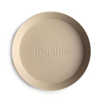 Mushie Mushie - Set of 2 Round Plates, Vanilla