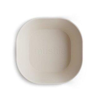 Mushie Mushie - Set of 2 Square Bowls, Ivory