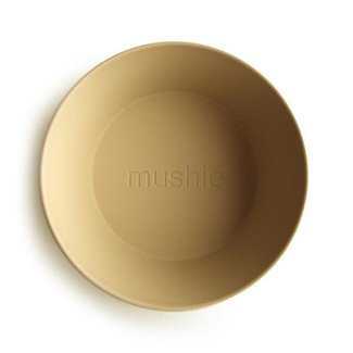 Mushie Mushie - Set of 2 Round Bowls, Mustard