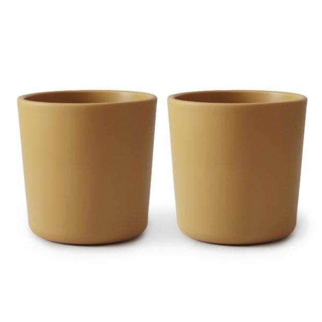 Mushie Mushie - Set of 2 Cups, Mustard