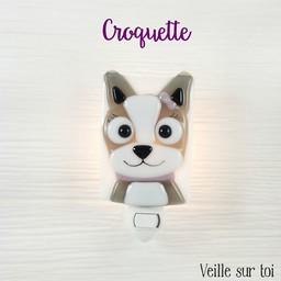 Veille Sur Toi Veilleuse en Verre Croquette le Chien par Veille sur Toi / Veille sur Toi Dog Glass Nightlight