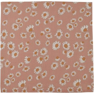 The Mini Scout The Mini Scout - Cotton Muslin Swaddle, Daisy Blush Pink