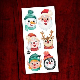 Pico Tatouages Temporaires Pico Tatoo - Temporary Tattoos, Christmas at the North Pole