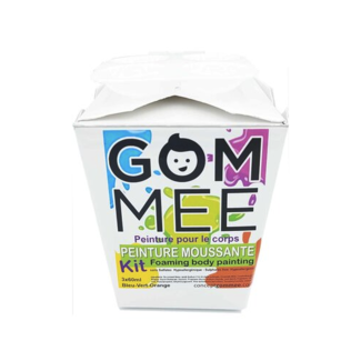Gom.mee GOM.MEE - Foaming Body Paint Cleanser Gift Box, Blue, Green and Orange
