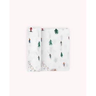 Little Unicorn Little Unicorn - Single Cotton Muslin Blanket, Powder Party