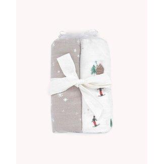 Little Unicorn Little Unicorn - Cotton Muslin Swaddle 2 Pack, Powder Party