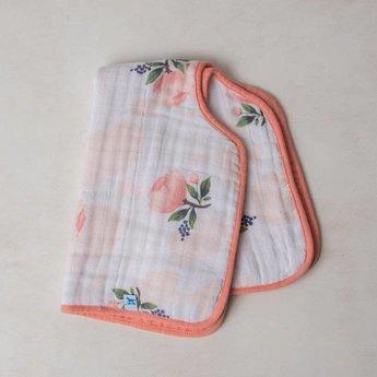 Little Unicorn Lange pour le Rot en Mousseline de Coton de Little Unicorn/Little Unicorn Cotton Muslin Burp Cloth, Watercolor Rose