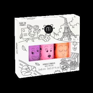 Nailmatic Nailmatic - Pack of 3 Water-Based Nail Polish, Paris