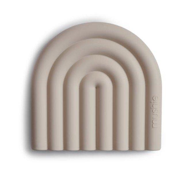 Mushie Mushie - Rainbow Teether, Shifting Sand