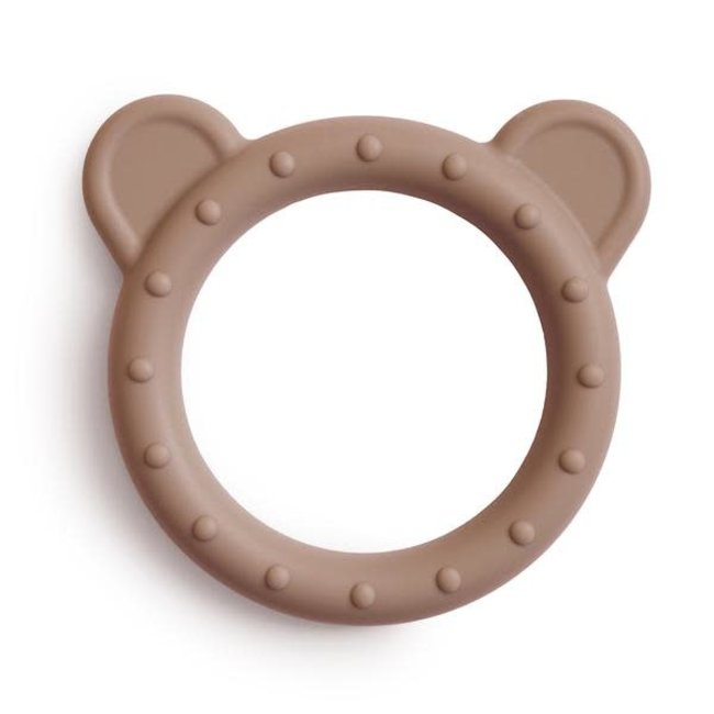 Mushie Mushie - Bear Teething Ring, Natural