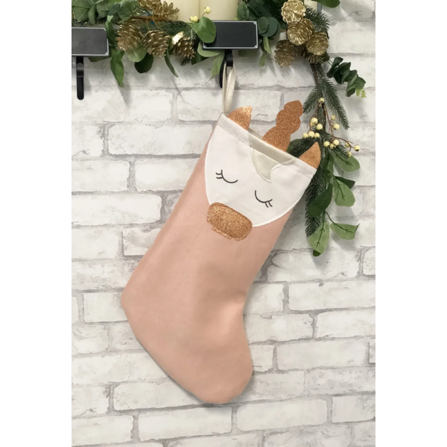 Cyan - Christmas Stocking, Unicorn