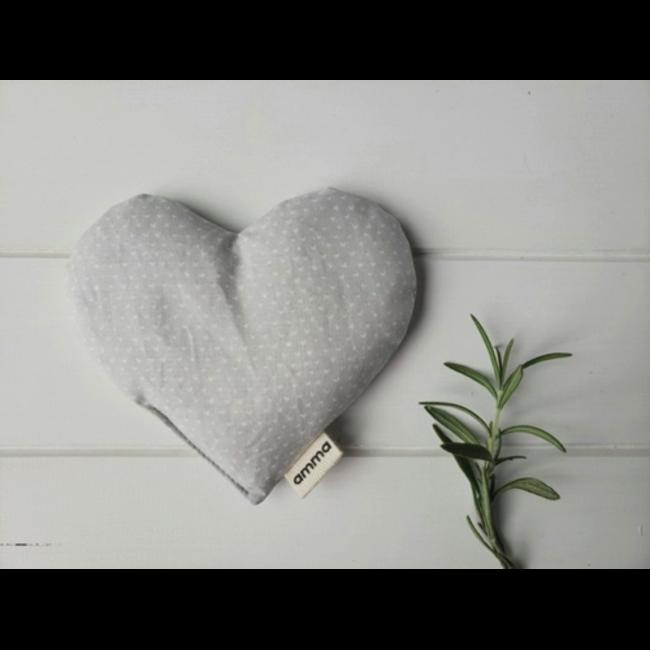 Amma Thérapie Amma Thérapie - Heart Comfort Cushion for Babies, Grey Little Heart