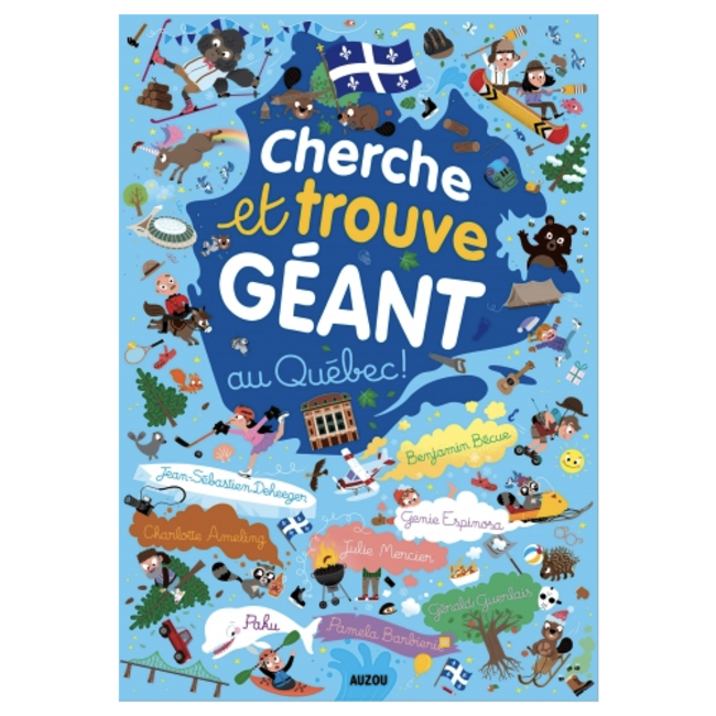Auzou Auzou - Quebec Giant Look and Find Book