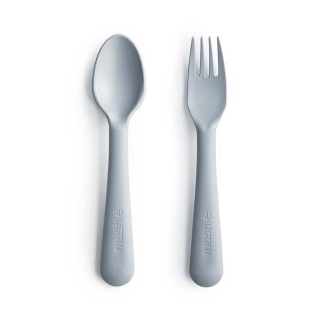 Mushie Mushie - Fork and Spoon Set, Cloud