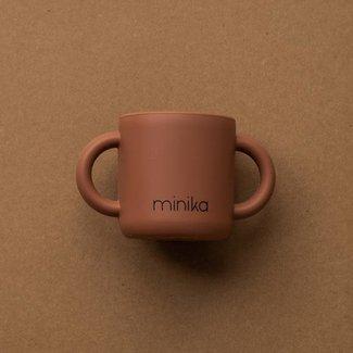 Minika Minika - Tasse d'Apprentissage en Silicone avec Poignées, Cacao