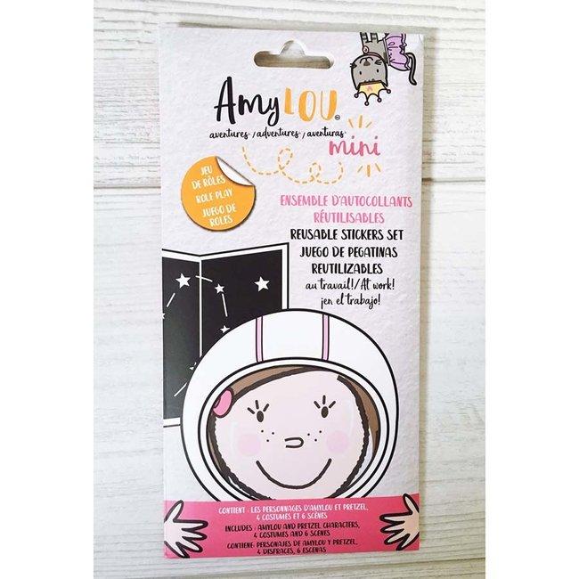 AmyLOU AmyLOU - Reusable Stickers Set, At Work