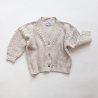 Kindly the label Kindly the Label - Cardigan en Tricot, Vanille