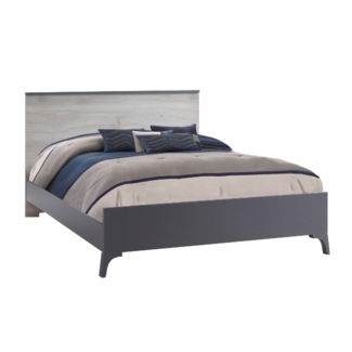 "Natart Juvenile Natart Tulip Metro - Low Profile Footboard 54"" and Double Bed Conversion Rails"