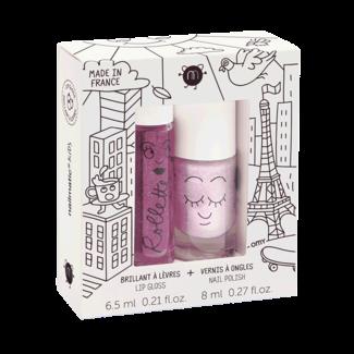 Nailmatic Nailmatic - Lip Gloss and Nail Polish Gift Set, Lovely City