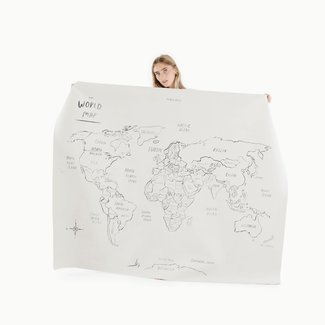 Gathre Gathre - Midi+ Multifunctional Leather Mat, World Map