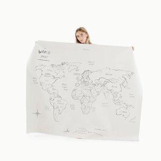 Gathre Gathre - Tapis Multifonction en Cuir Midi+, Carte du Monde