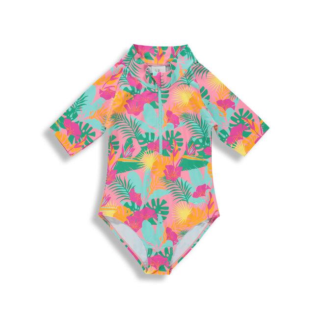 Birdz Children & Co Birdz - Surfer Swimsuit, Jungle Pink