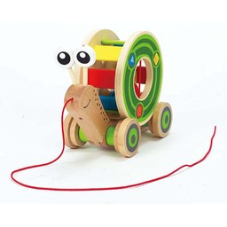 Hape Hape - Jouet à Tirer Walk-A-Long /Walk-A-Long Push Toy, Escargot/Snail