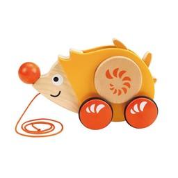 Hape Jouet à Tirer Walk-A-Long de Hape/Hape Walk-A-Long Push Toy, Herisson/Hedgehog