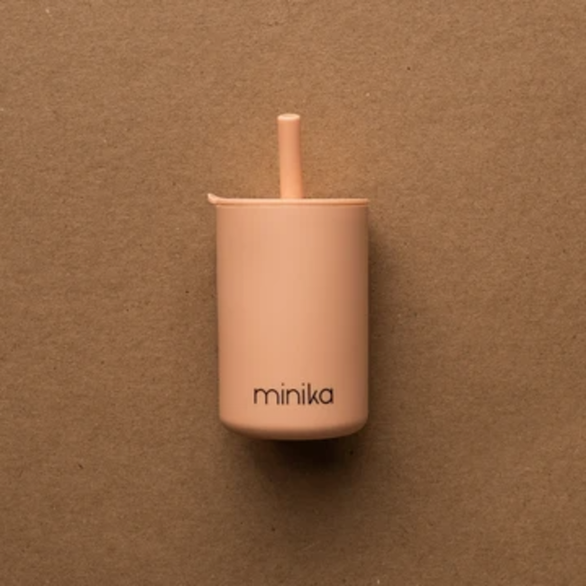 Minika Minika - Cup with Straw and Lid, Blush