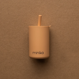 Minika Minika - Cup with Straw and Lid, Natural
