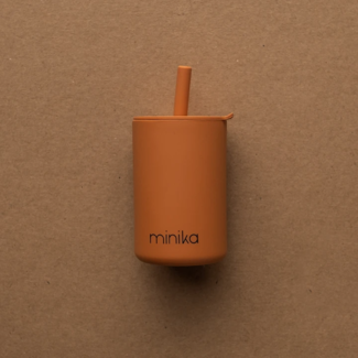 Minika Minika - Cup with Straw and Lid, Ginger