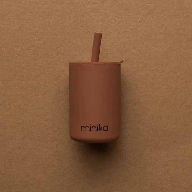 Minika Minika - Cup with Straw and Lid, Cacao