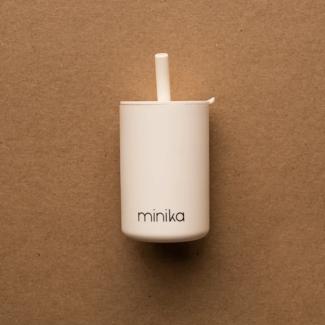 Minika Minika - Cup with Straw and Lid, Shell