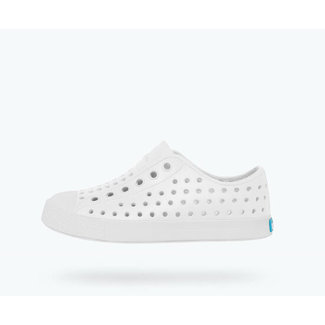 Native Native - Souliers Jefferson Child, Blanc Coquille