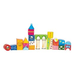 Hape Hape - Cubes Chateau Fantaisie /Fantasy Blocks Castle