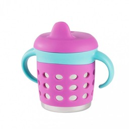 Make my day Tasse Antifuites Make My Day/Make My Day Sippy Cup Mauve et Bleue/Purple and Blue